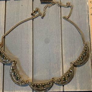 Francescas gold collar necklace